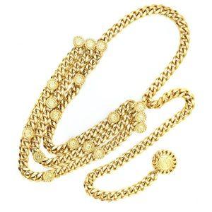 "St. John Accessories - St. John Signature ""Gold"" Chain Medallion Belt"